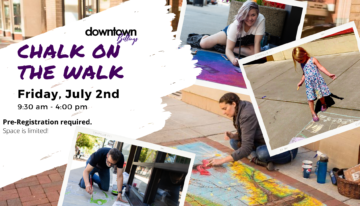 downtown chalk event