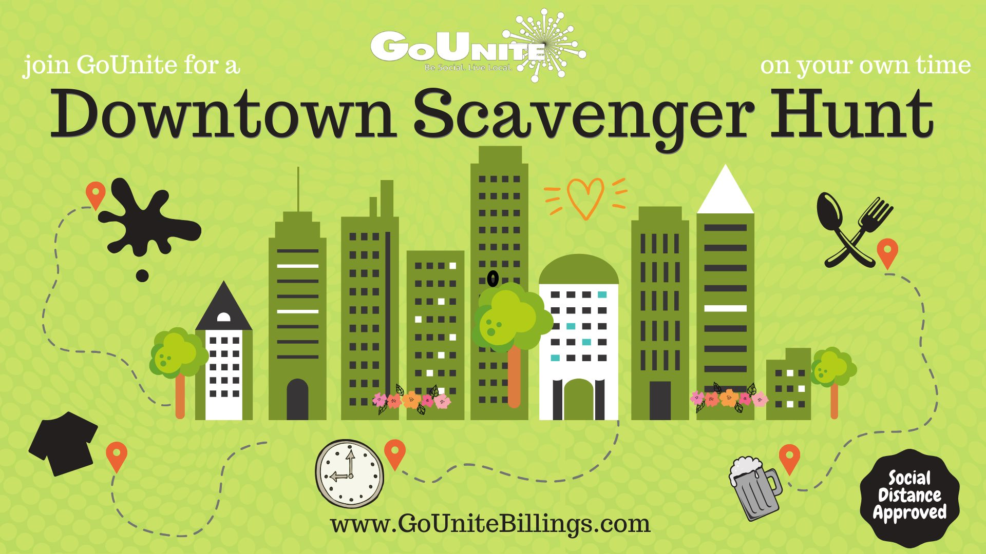 GoUnite Downtown Scavenger Hunt