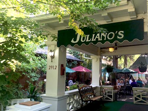 Julianos outdoor patio