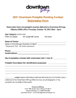 Pumpkin Painting sumission form 2021