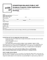 Sculpture Program Application