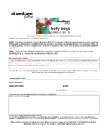 holly days participation worksheet