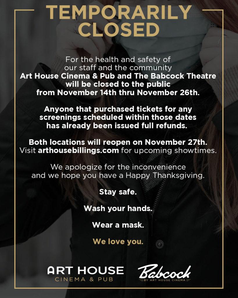 Hillbilly Elegy Art House Cinema Downtown Billings Alliance